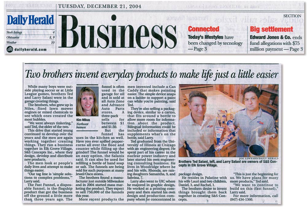 Daily Herald, December 21, 2004 Business Section